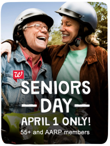 walgreens senior april