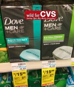 CVS – Dove Men+Care Soap $.50 per Bar!!