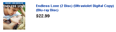 endless love blue ray