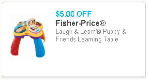 fisher price puppy table
