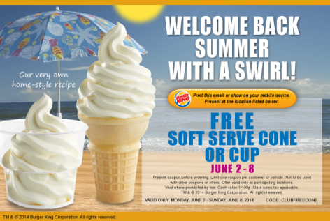 burger king soft serve