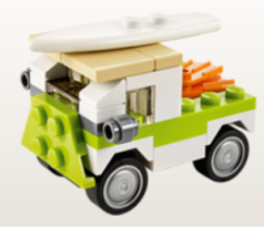 LEGO beach van