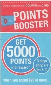 Walgreens points booster